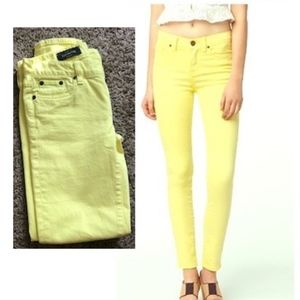 J. CREW Toothpick Yellow Ankle Jeans